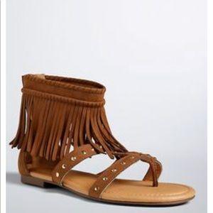 Torrid brown fringe studded gladiator sandals 11